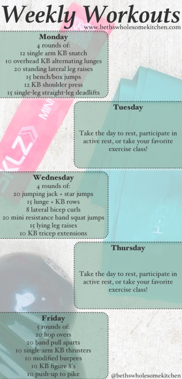 Weekly Workouts 8