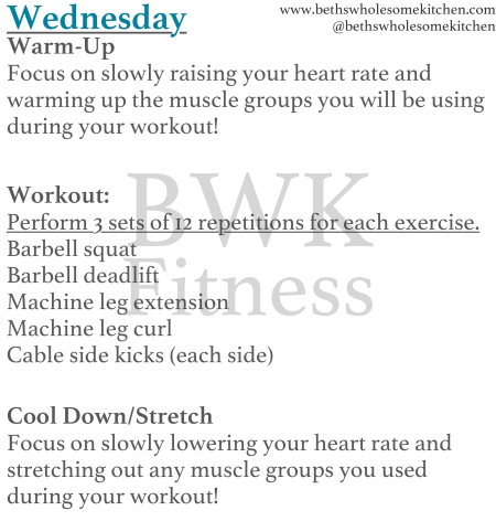 Wednesday's Workout